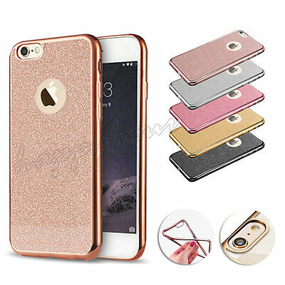 New Bling Silicone Glitter ShockProof Case Cover For Apple iPhone 7 6 6S Plus 5S
