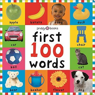 First 100 Words (Bright Baby First 100) by Roger Priddy Board book Book The