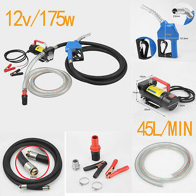 Fuel Pump Transfer Portable 12V DC Electric Oil Commercial Auto Diesel Kerosene