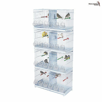 Kookaburra Larch Double Wire Breeding Cage for Finch Canary Budgie Etc X4