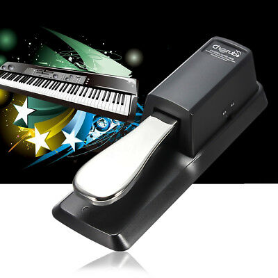 Universal Metal Sustain Pedal Foot Switch w/ cable for Keyboard Electronic Piano