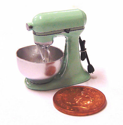1:12 Non Working Pale Green Food Mixer Dolls House Miniature Kitchen Accessory
