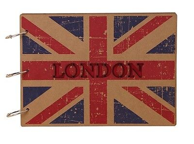 DIY Kraft 30Pages MDF Wood Cover Photo Album Wedding Scrapbook LONDON