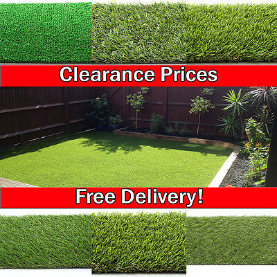 Artificial Grass Astro Turf Cheap Realistic Natural Green Lawn Garden! New!!!!