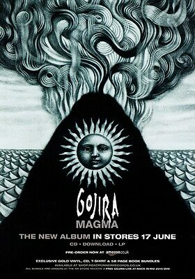 GOJIRA Magma PHOTO Print POSTER Band L'Enfant iSauvage Shirt Slayer Sepultura 05