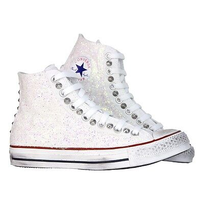 ALL STAR CONVERSE glitter bianco