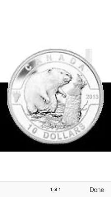 2013 1/2oz RCM 999 Silver Coin The Beaver in air-tite capsule, COA and Case