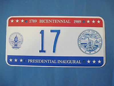 1989 DC Bicentennial Inaugural license plate excellent condition Iowa seal