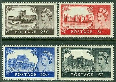 GREAT BRITAIN : Stanley Gibbons #536-39. Very Fine, Mint Never Hinged.