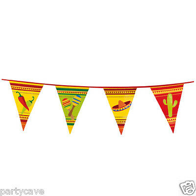 6M Mexican Fiesta Sombrero Bunting Banner Summer Party Flag Garland Decoration