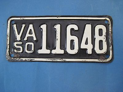 1950 Virginia Motorcycle License Plate