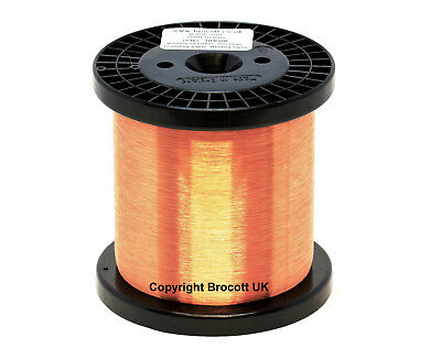 0.10mm - ENAMELLED COPPER WINDING WIRE, MAGNET WIRE, COIL WIRE - 500 Gram Spool