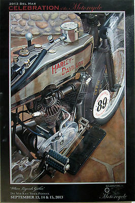 "Harley Davidson ""Where Legends Gather"" Scott Jacobs Laminated Art"