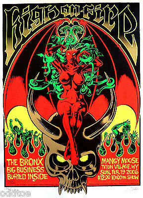 High On Fire, Big Business, silkscreen Concert Poster S/N Greg Stainboy Reinel