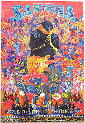 SANTANA- Orig. 1999 Fillmore Concert Poster by Michael Rios F374, hard to find!