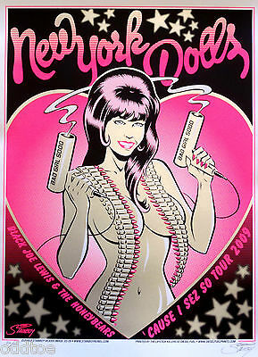 New York Dolls, Cause I Sez So Tour, Concert Poster S/N by Greg Stainboy Reinel