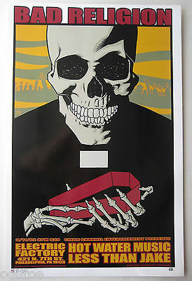 BAD RELIGION- Less Than Jake ORIGINAL 2002 CONCERT POSTER by BRIAN EWING, S/N