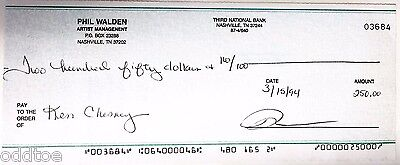 Kenny Chesney SIGNED Cancelled Check from 1994