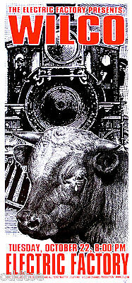 WILCO Poster Orig. ConcertS/N Scott Benge, FGX, Crying Bull, Train, Silkscreen