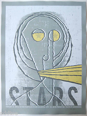STARS- Orig. Signed 2006 Concert Poster by Kevin Mercer/LargeMammal, star-eyes