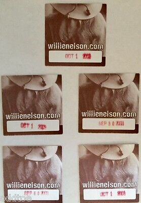 Willie Nelson - Set Of Five Backstage Tour Passes