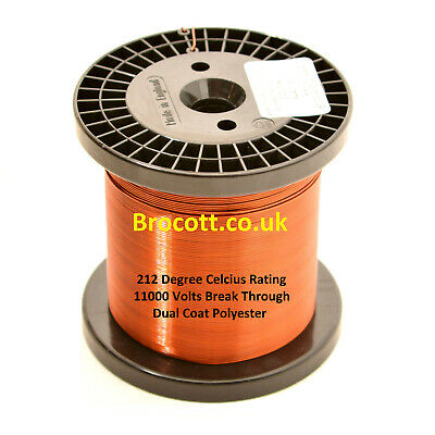 22AWG - ENAMELLED COPPER WINDING WIRE, MAGNET WIRE, COIL WIRE - 1KG Spool