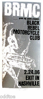 BLACK REBEL MOTORCYCLE CLUB, Orig. Concert Poster S/N Print Mafia, Silkscreen