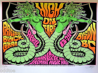 High On Fire, Black Cobra, silkscreen Concert Poster S/N by Greg Stainboy Reinel