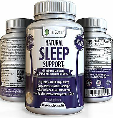 BioGanix  Best Natural Sleeping Aid Pills - Extra Strength OTC Herbal Formula sw