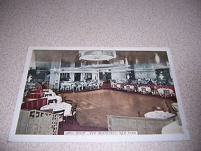1930s GRILL ROOM at THE ROOSEVELT HOTEL NEW YORK CITY NY. ANTIQUE POSTCARD