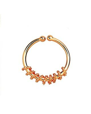Sterling Silver Rope Wire Motif Illusion Faux Fake Clicker Septum Nose Ring 18g