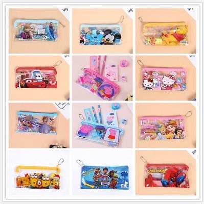 Mickey Mouse and Cartoon Set of 7 Stationey Pencil Kit / Set For Birthday Gift