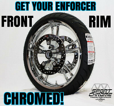 Get Your Enforcer Front Wheel Chrome Plated by Sport Chrome LIFETIME WARRANTY