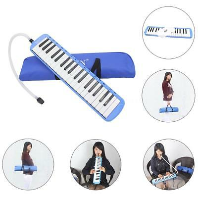 37 Piano Keys Melodica Pianica with Carrying Bag for Student Kid Gift Blue O9E5