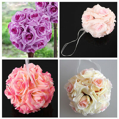 Silk Rose Pomander Flower Kissing Ball Wedding Party Home Decoration FT56
