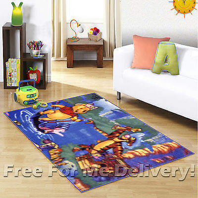 KIDS EXPRESS WINNIE POOH PLAY SAILING FLOOR RUG (XS) 100x150cm **FREE DELIVERY**