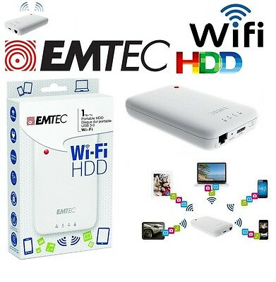 HDD EMTEC P600 Wifi USB 3.0 Pc Portable 2.5 Disque Dur Externe 2.5 1 TB 1 TO 1TO