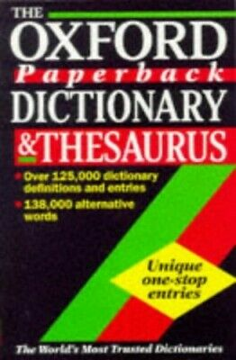The Oxford Paperback Dictionary and Thesaurus Paperback Book The Cheap Fast Free