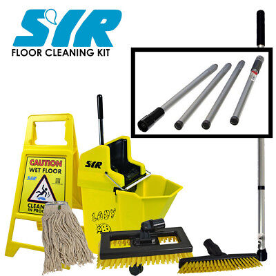 Professional Floor Cleaning Kit SYR - Mop bucket, Mop, Caution Floor Sign SYR