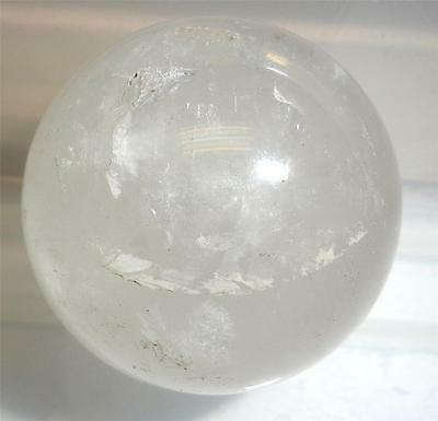 Milky Quartz Crystal Sphere - 34 mm ( 53.9 g ) - Untreated Natural Stone