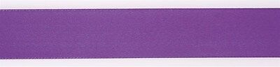 Culpitt DAMSON PURPLE 25mm x 25m Double Faced Satin Ribbon Cake Decoration Craft