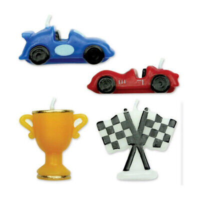 PME 4 Set RACING CARS Candles Birthday Boys Party Cake Decorating