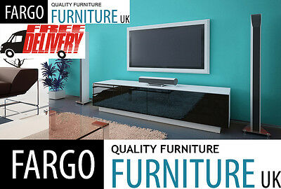 tv stand cabinet unit standing + wall mounted 160CM + acrylic high gloss