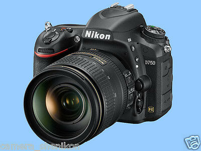 100% New Unused Nikon D750 Full Frame FX DSLR AF-S 24-120mm F4 G VR Lens Kit