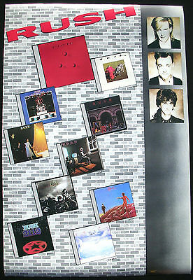 RUSH Hold Your Fire U.S. Promo Poster Mint- 1987 ORIGINAL Catalog / Group!