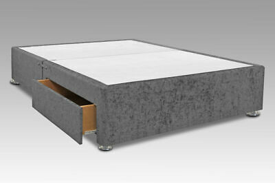 White Faux Leather Divan Base All Sizes With Under Bed Drawers Storage
