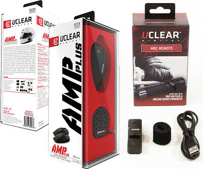 UClear AMP PLUS Bluetooth Headset DUAL Motorcycle Intercom and HBC Remote
