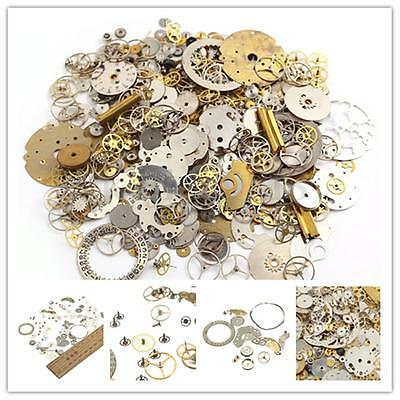 10/50G Mixed Bulk Design Parts Wheels Gears Cogs Steampunk Craft Old Cyberpunk