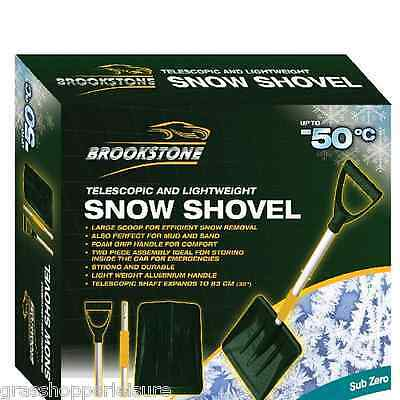 BROOKSTONE SNOW SHOVEL lightweight spade travel motorhome car caravan home