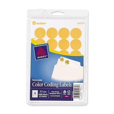 Avery Round Removable Custom Color-coding Labels